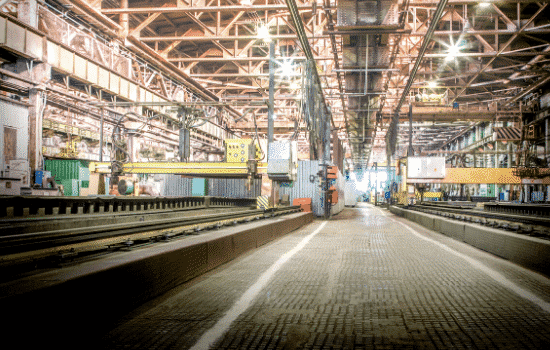 interior of large factory