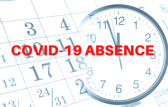 """calendar with """"covic-19 absence"""" written over it"""