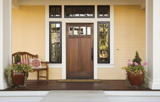 nice large front porch on home