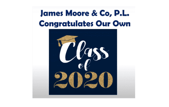 """Class of 2020"" on blue background"