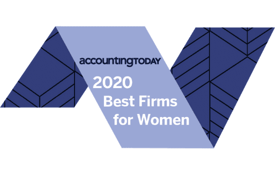 2020 best firms for women logo