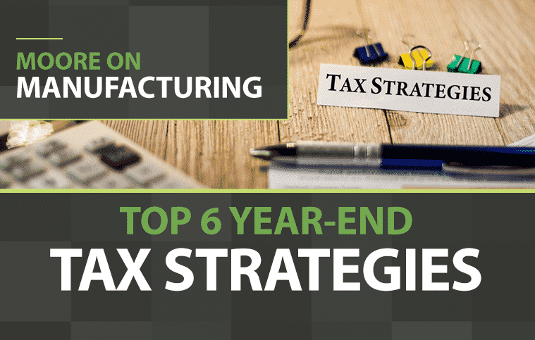 Pen and Calculator and a tag saying tax strategies
