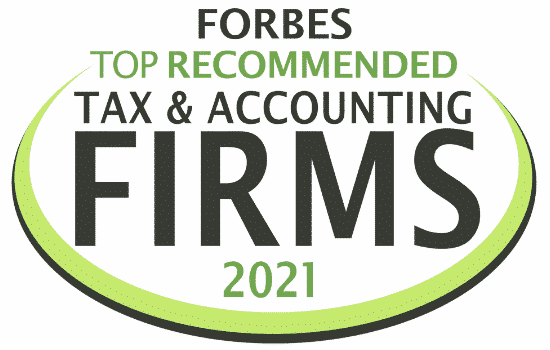 Forbes top recommended firm logo for 2021